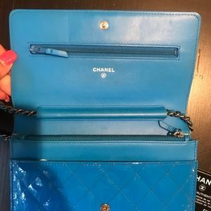 CHANEL Bags - Chanel BoyPatent Wallet on a Chain